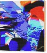Blue Narcissus Wood Print