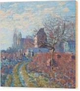 Gelee Blanche Wood Print by Alfred Sisley