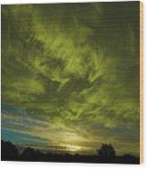 Gem Sunset Wood Print