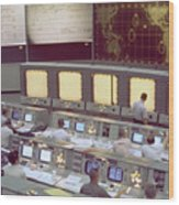 Gemini Mission Control Wood Print by Nasa/Science Source