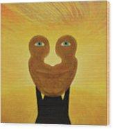 Gemini. Self-portrait Wood Print
