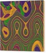 Gems 4 Wood Print