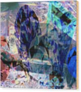 Gems Of Ice Wood Print