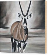 Gemsbok - Solitude Wood Print