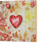 Gemstone - 7 Wood Print