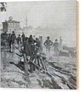 Gen Shermans Troops Destroying Railroad Before The Evacuation Of Atlanta - C 1864 Wood Print