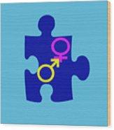 Gender Conundrum Wood Print