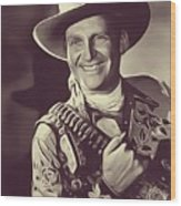 Gene Autry, Vintage Actor/singer Wood Print