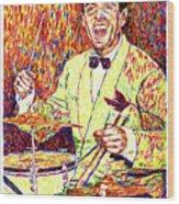 Gene Krupa The Drummer Wood Print by David Lloyd Glover