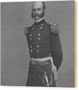 General Ambrose Everett Burnside Wood Print by War Is Hell Store