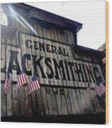 General Blacksmithing Wood Print