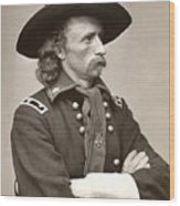 General Custer Wood Print