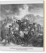 General Custer's Death Struggle  Wood Print by War Is Hell Store
