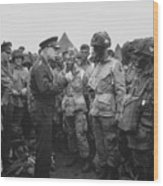 General Eisenhower On D-day  Wood Print by War Is Hell Store