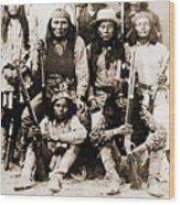 General George Cook Apache Army Wood Print