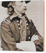 General George Custer Wood Print