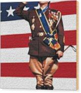 General George S. Patton Wood Print