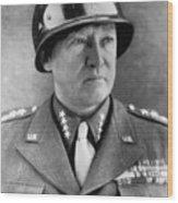 General George S. Patton Jr. 1885-1945 Wood Print by Everett