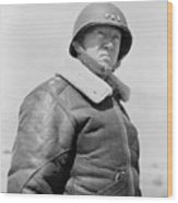 General George S. Patton Wood Print by War Is Hell Store