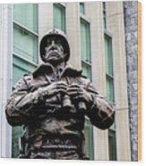 General George S Patton Wood Print