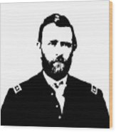 General Grant Black And White  Wood Print