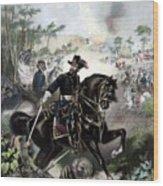 General Grant During Battle Wood Print