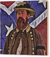 General Jeb Stuart Of Vmi Wood Print