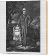 General Lee Visits The Grave Of Stonewall Jackson Wood Print