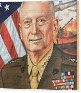 General Mattis Portrait Wood Print