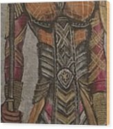 General Okoye Of The Wakandian Elite Forces   Wood Print