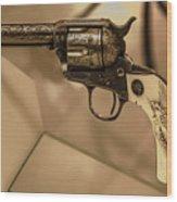 General Patton's Model 1873 Colt 45 Revolver  Wood Print