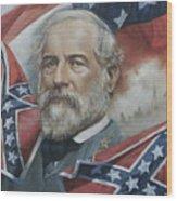General Robert E Lee Wood Print by Linda Eades Blackburn