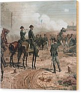 General Sherman Observing The Siege Of Atlanta Wood Print