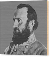 General Stonewall Jackson Profile Wood Print