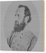 General Thomas Stonewall Jackson Wood Print by War Is Hell Store