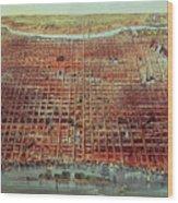 General View Of Philadelphia Wood Print