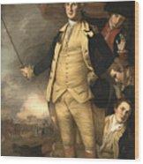 General Washington At The Battle Of Princeton Wood Print