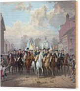 General Washington Enters New York Wood Print by War Is Hell Store