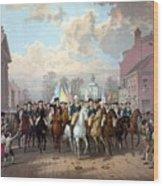 General Washington Enters New York Wood Print