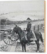 General William T Sherman On Horseback - C 1864 Wood Print
