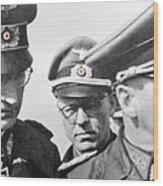 Generalfeldmarschall  Erwin Rommel And Staff Number 1 North Africa 1942 Color Added 2016 Wood Print
