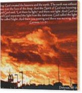 Genesis 1-1-31 Wood Print