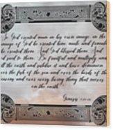 Genesis 1 27-28 Wood Print