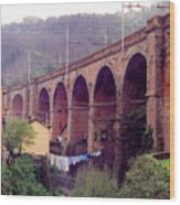 Genoa Railroad Bridge Wood Print