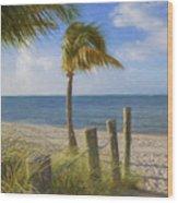 Gentle Breeze At The Beach Wood Print