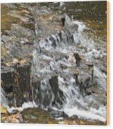 Gentle Falls Wood Print