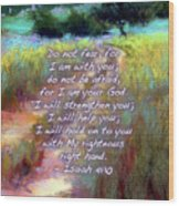 Gentle Journey With Bible Verse Wood Print