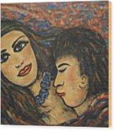 Gentle Loving Kiss Wood Print