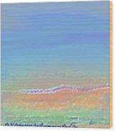 Gentle Morning On Dead Sea Wood Print