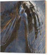 Gentle River Ripple Swirl Vertical Wood Print